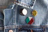 SALE! Color Block Hexagon Pin