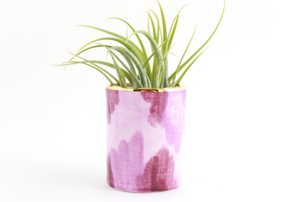 SALE! Purple Abstract Tiny Planter/Air Plant Holder