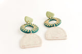 Triple Sunburst Cutout Statement Earrings