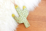 NEW! Polka Dot Colorblock Tip Cactus Ornament