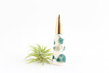 Teal Splash Gold Tipped Ring Cone