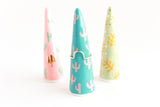 Turquoise and Pink Cactus Ring Cone / Plant Collection