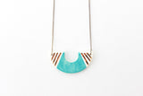 Color Block Half Circle Necklace
