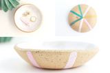NEW! Speckled Stoneware Color Wheel Trinket Bowl