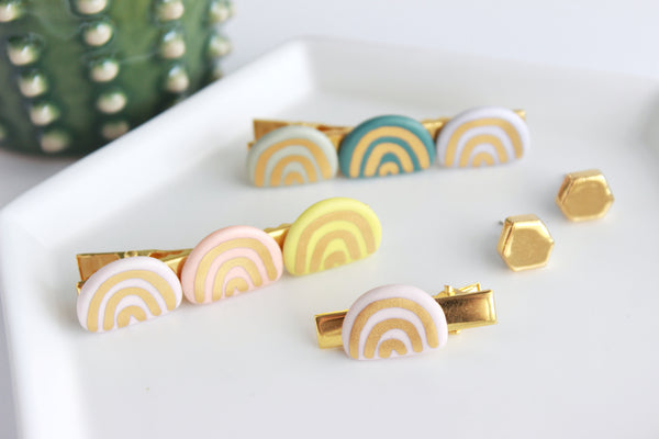 NEW! Matte Rainbow Hair Clips