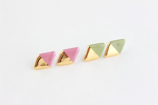 Gold Dipped Diamond Stud Earrings