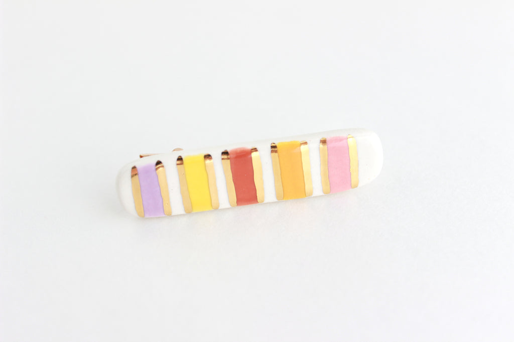 NEW! Multicolored Stripe Hair Clip