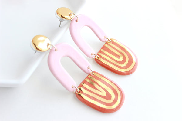 NEW! Triple U Shape Statement Earrings