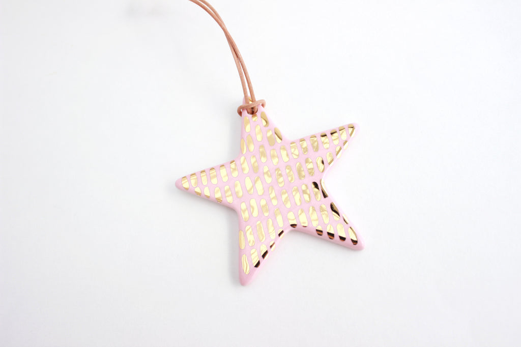 Gold Dash Star Christmas Ornament