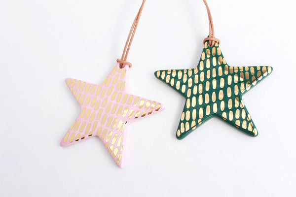 NEW! Gold Dash Star Christmas Ornament