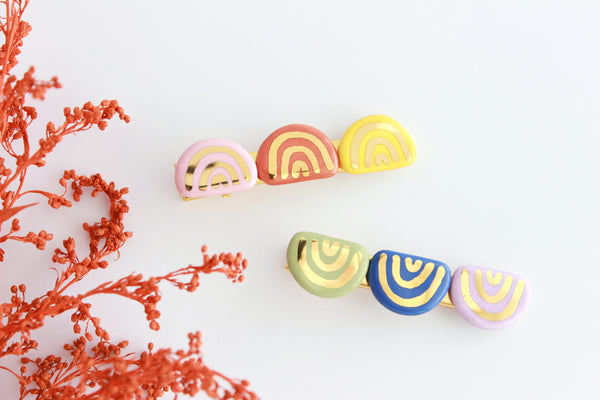 NEW! Rainbow Hair Clip Set