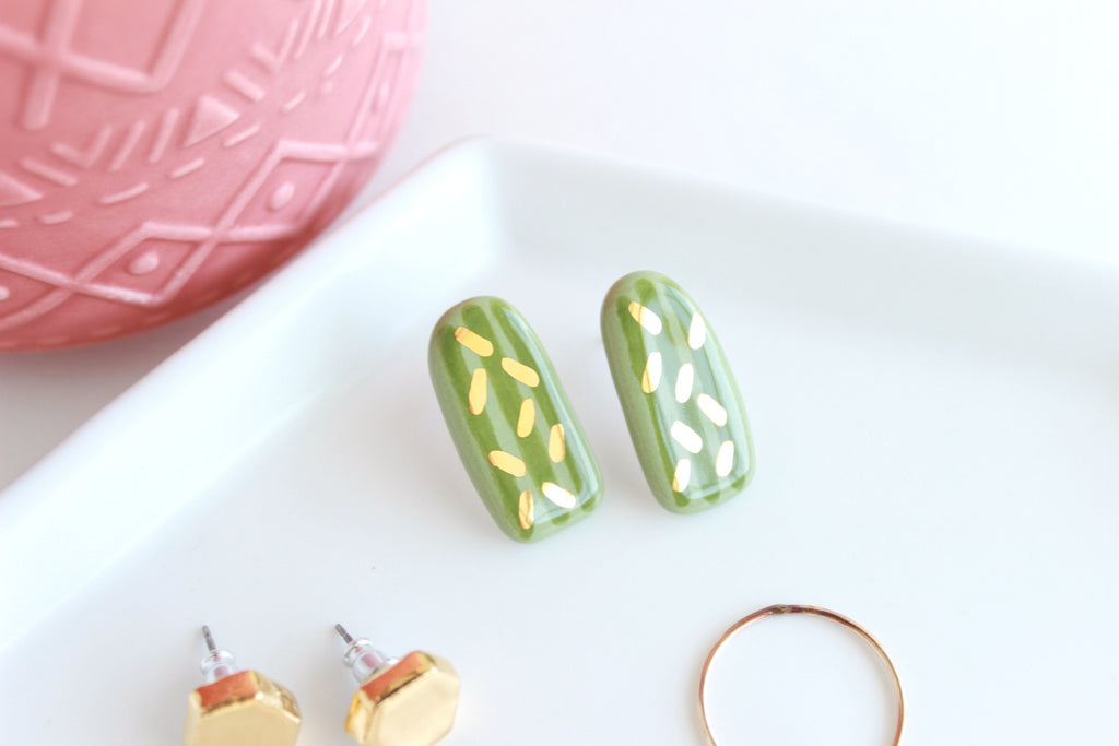 NEW! Cactus Bar Statement Stud Earrings