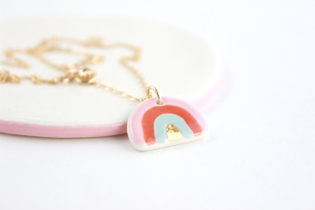 NEW! Mini Unicorn Rainbow Charm Necklace