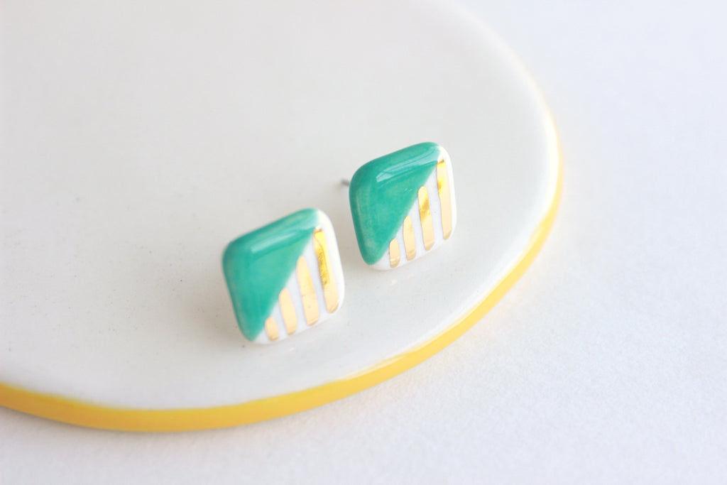 NEW! Patterned Stud Earrings