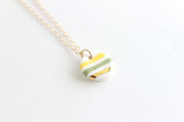 NEW! Striped Charm Necklace