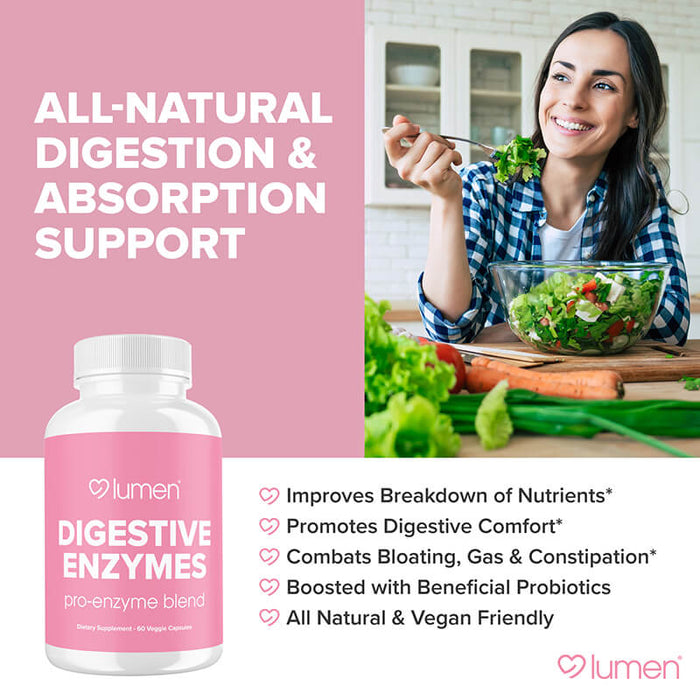 Digestive Enzymes Pro-Enzyme Blend 60ct (6-pack) - 35% Off + FREE Shipping