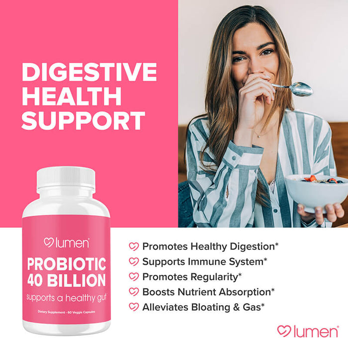 Probiotic 40 Billion - Supports a Healthy Gut