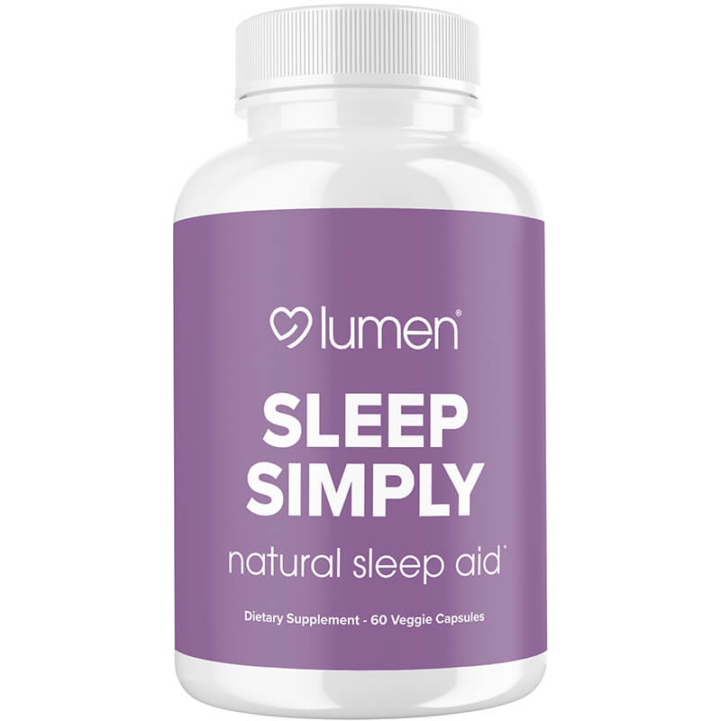 Sleep Simply - Natural Sleep Aid Formula with Valerian, Tryptophan, Melatonin, & Chamomile - 60ct