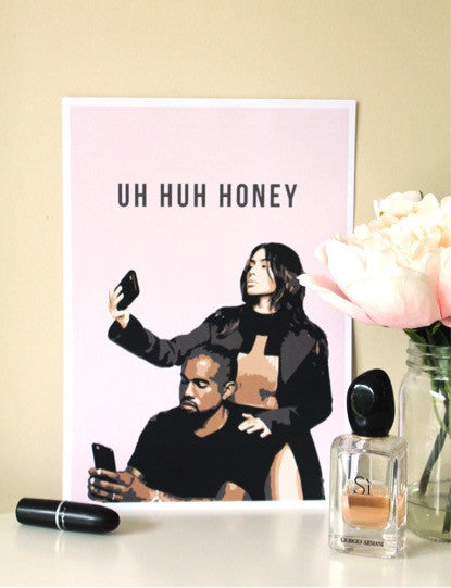 UH HUH HONEY WALL PRINT