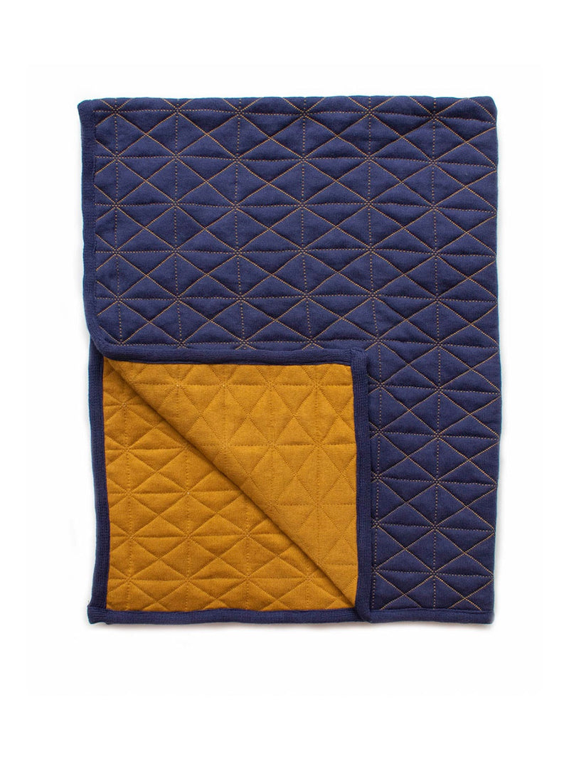 Reversable Quilted Blanket Indigo