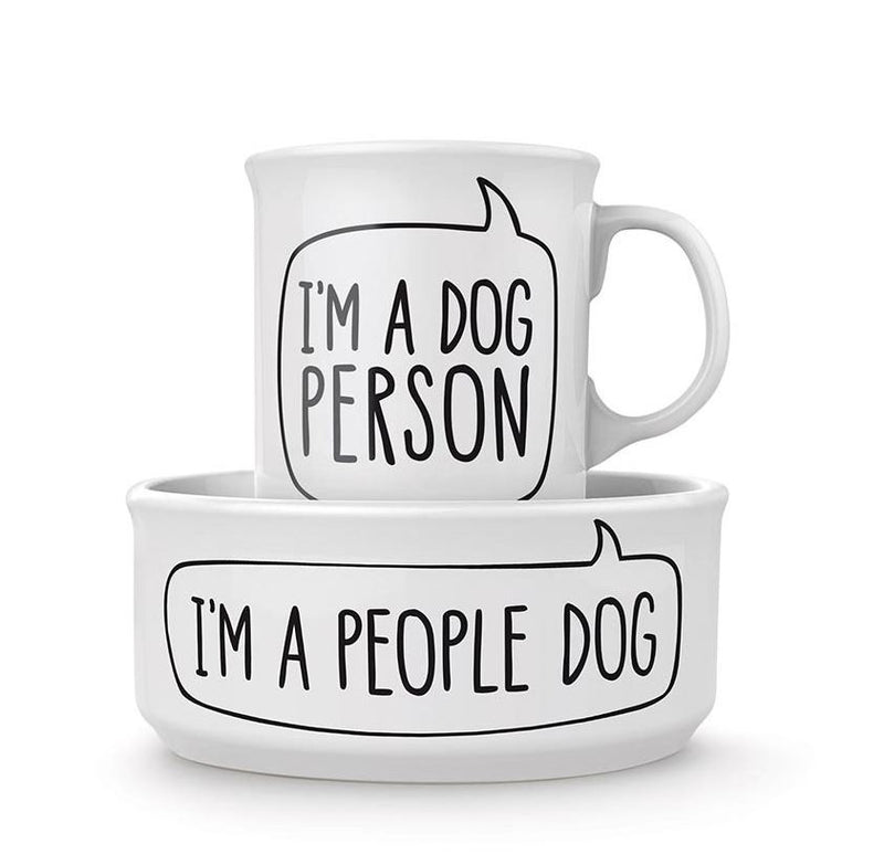 Fred Dog Person Bowl & Mug Set