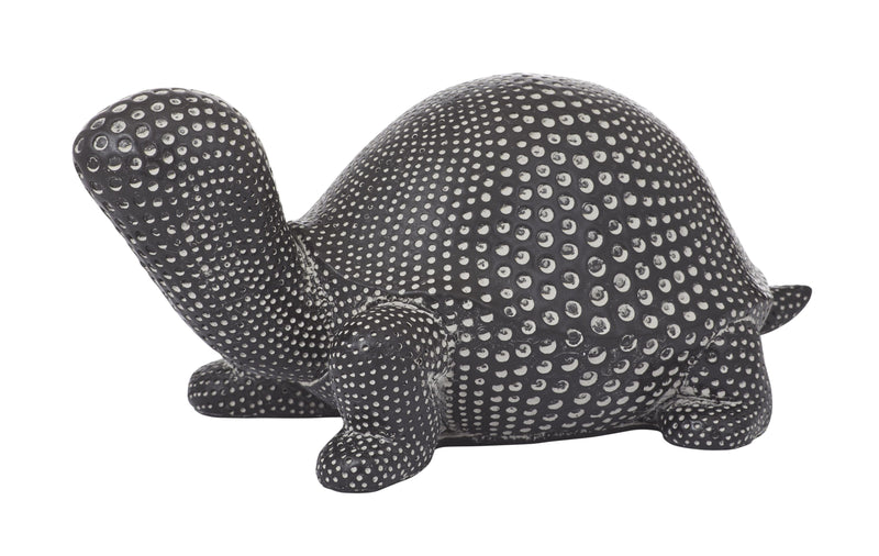 Turtle Sculpture 23.5cm Black