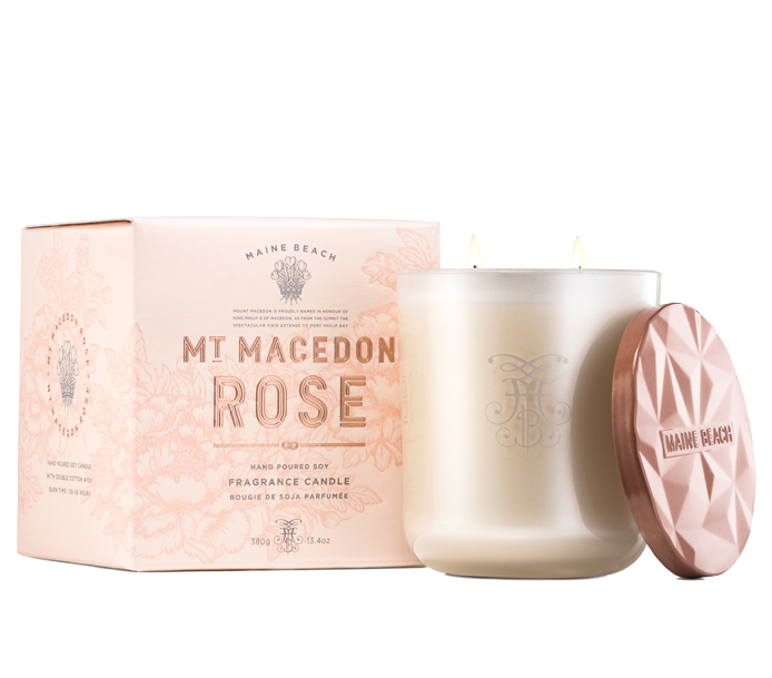 Mt Macedon Rose Candle