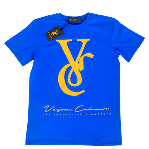 Royal Blue Tee with Gold VC Logo