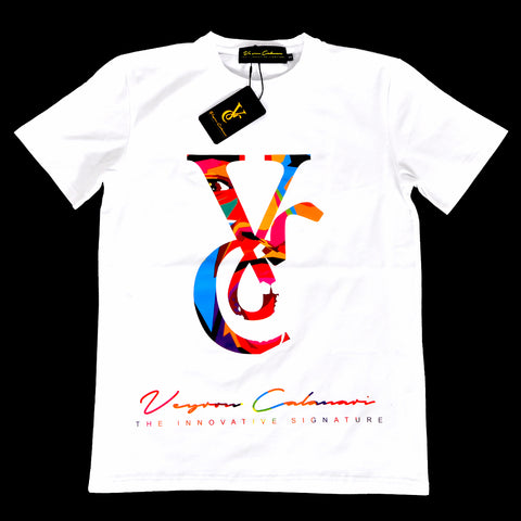 White Tee with Colorful VC Logo