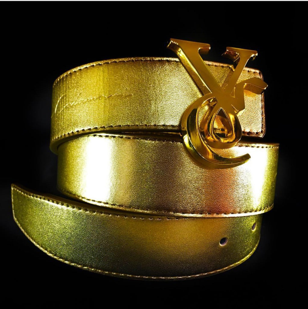 8ad71e626 VC 24K Gold Buckle with Gold Leather Belt Strap - Veyron Calanari