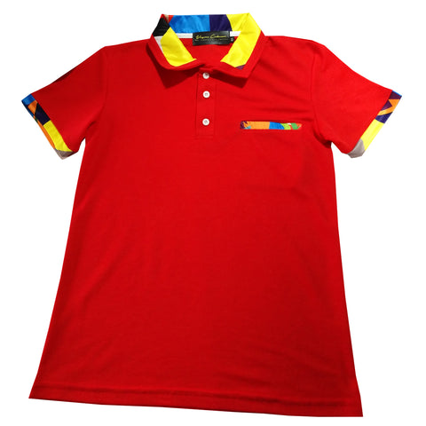 Slim Fit Polo - Red