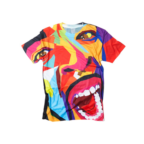Screaming Face Short Sleeve Tee