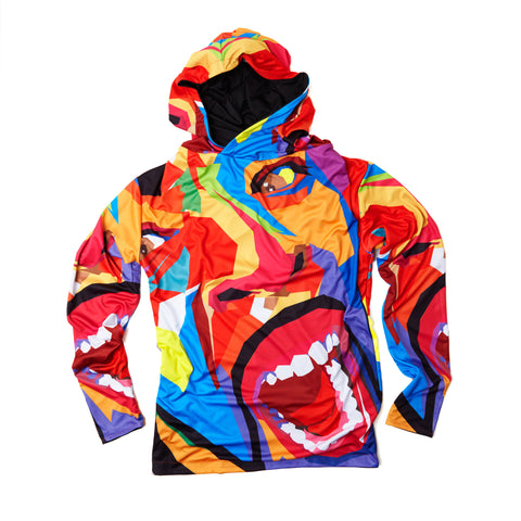 Screaming Face Reversible Hoody