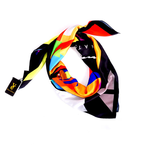Screaming Face Silk Scarf