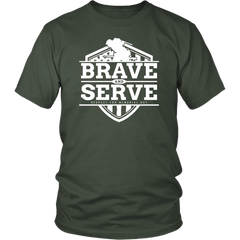 Brave And Serve. Respect For Memorial Day