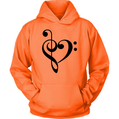Treble Clef & Bass Clef Heart Shape