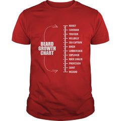 Beard Growth Chart T-Shirt