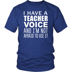 I Have A Teacher Voice