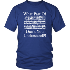 What Part Of ... Don't You Understand ? (Music Notes)