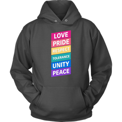 Love.Pride.Respect.Tolerance.Unity.Peace