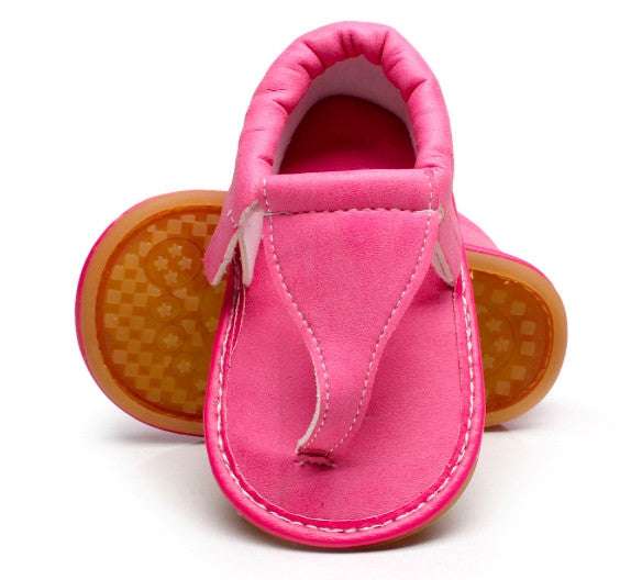 Pink Moccasin Sandals
