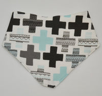 Blue Swiss Cross Bandana Bib