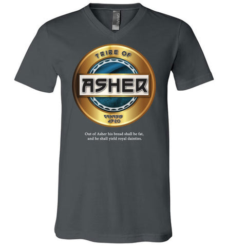 Asher V-Neck (Unisex) White Letter
