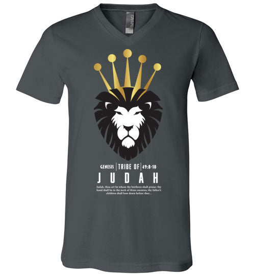 Judah V-Neck (Unisex) White Letter