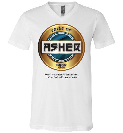 Asher V-Neck (Unisex) Black Letter