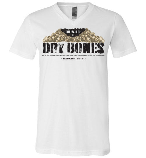Valley of Dry Bones V-Neck Black Letter