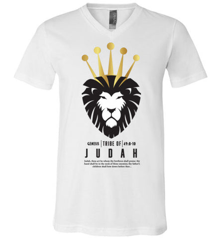 Judah V-Neck (Unisex) Black Letter