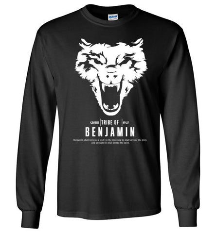 Benjamin Long Sleeve (Unisex and Youth) White Letter