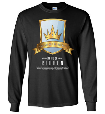 Reuben Long Sleeve (Unisex and Youth) White Letter
