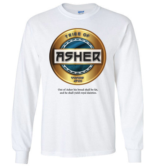Asher Long Sleeve (Unisex and Youth) White Letter